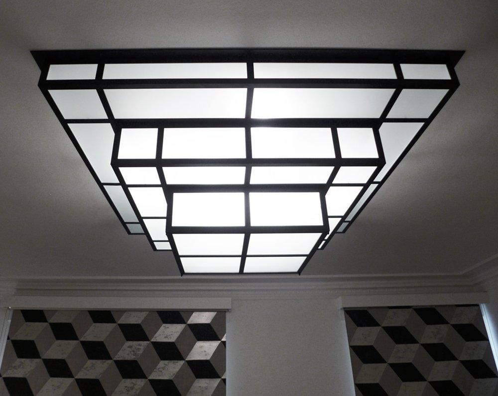 tesseract 1200 luminaire art d co led rapha l armand. Black Bedroom Furniture Sets. Home Design Ideas