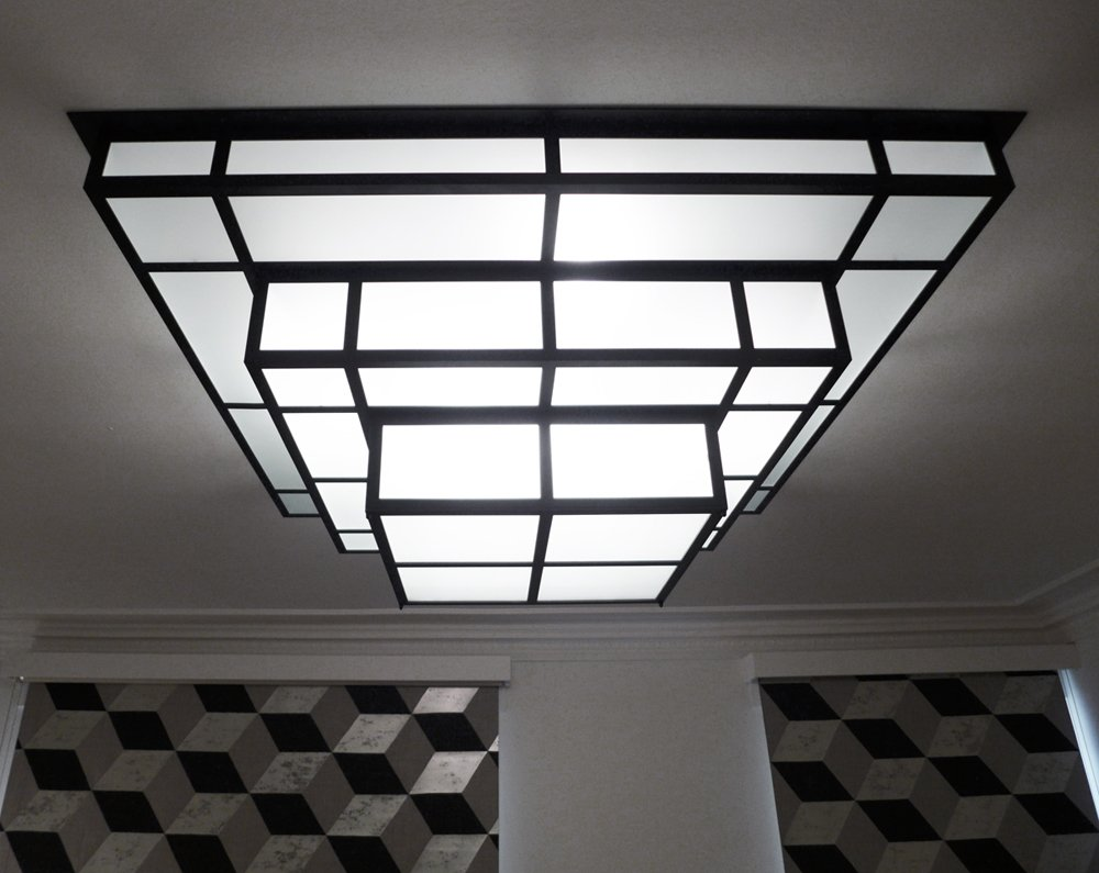 tesseract rapha l armand luminaires art d co et modernistes des ann es 30. Black Bedroom Furniture Sets. Home Design Ideas